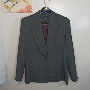New York & CO Jacket Formal Green One Button 12